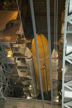 External tank and SRBs in VAB mated to Space Shuttle Atlantis STS135 Photo Print - $7.05+