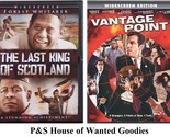 THE LAST KING OF SCOTLAND + VANTAGE POINT- Forest Whitaker [DVD 2 Movie Lot]