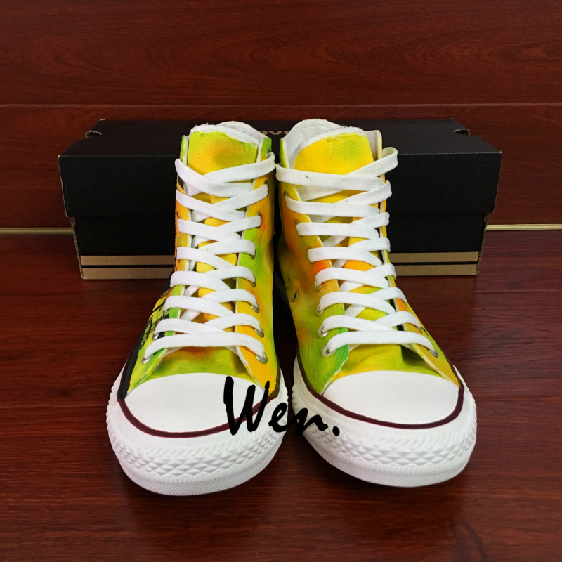 Original Hand Painted Converse Shoes Travel World Famous Landmarks Sneakers