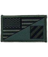 ARMY 3RD INFANTRY OD GREEN FLAG 2 X 3  EMBROIDERED PATCH WITH HOOK LOOP  - $18.04