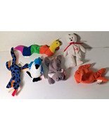 TY Teenie Beanie Babies Inch Mell Lizz Maple Rocket and Goldie 1993 Lot ... - $8.61