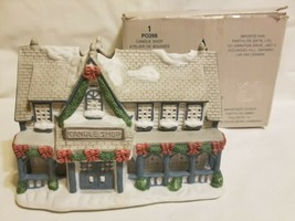 Party Lite Candle Shop Christmas Village Luminary w/ Box -NICE PO266 - $32.99