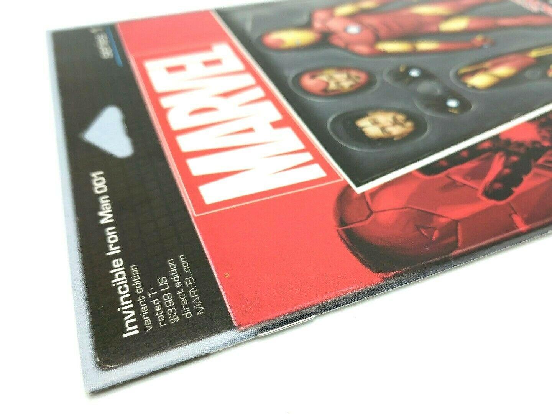 Invincible Iron Man #1 Action Figure Variant Cover Marvel Coimcs Volume 2 2015 image 3