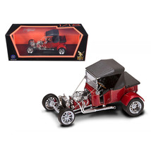 1923 Ford T-Bucket Soft Top Burgundy 1/18 Diecast Car Model by Road Sign... - $47.20