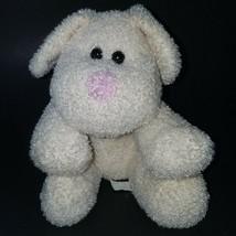 Best Made Toys White Puppy Dog Plush Pink Nose Lovey Stuffed Animal Toy Floppy - $29.65