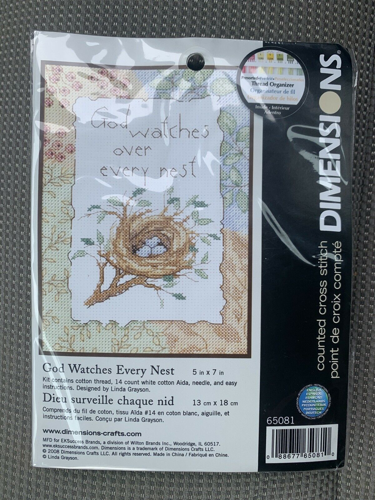 God Watches Every Nest Mini Counted Cross Stitch Kit 2008 Dimensions 65081 USA - $12.99