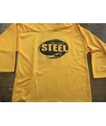 USHL CHICAGO STEEL PRACTICE JERSEY XL Yellow  Mint VINTAGE - $33.24