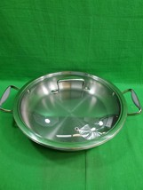 Vintage Belgique 12 Inch Saute Pan ~ Double Handles ~Lidded ~ Stainless ... - $43.90