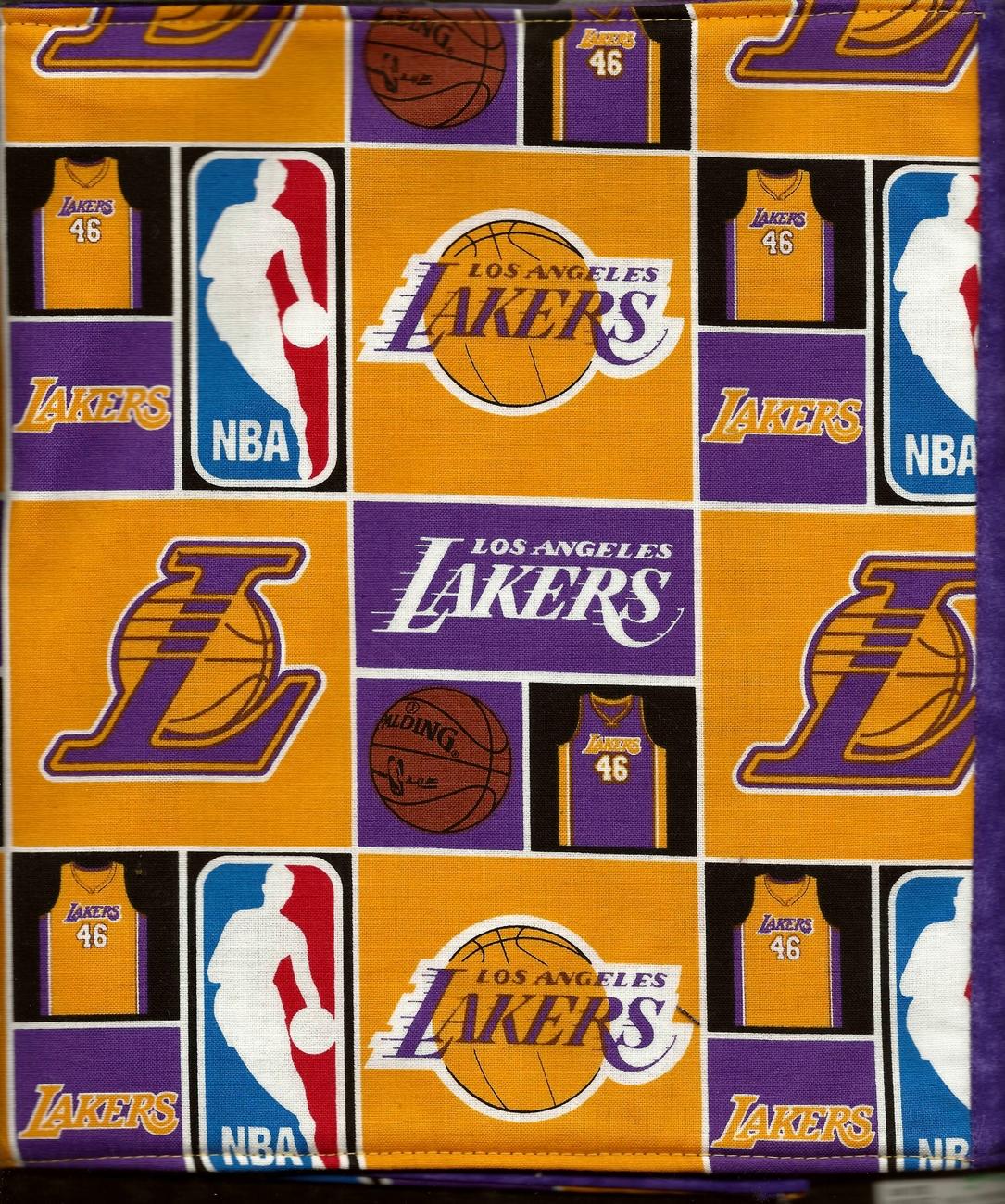 Los Angeles Lakers Design Custom Made Apple iPad Folio Cover Case W/Velco Snap