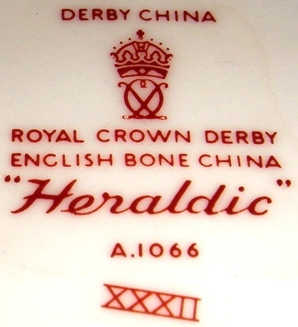 Royal Crown Derby HERALDIC English Cream Soup Cup & Saucer