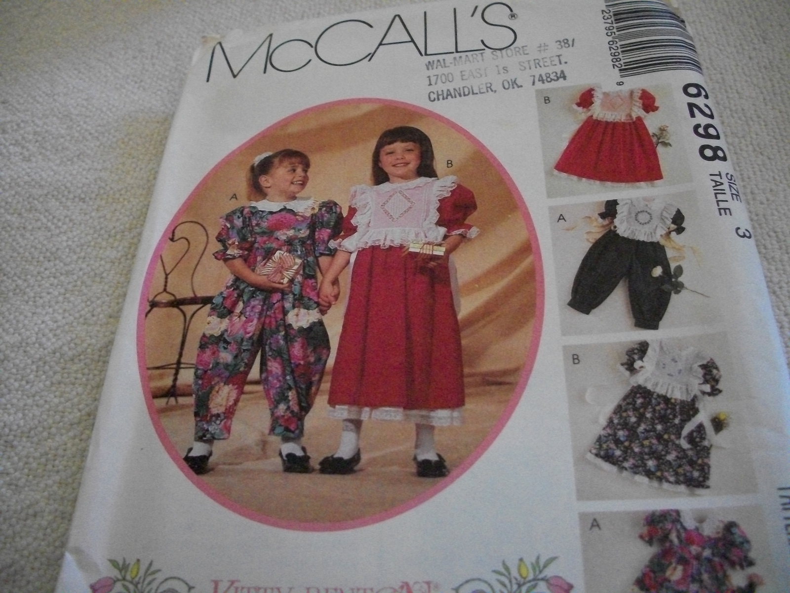 Primary image for Children's and Girl's Dress, Jumpsuit and Tabards Pattern McCall's 6298