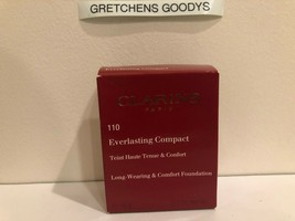 Clarins Everlasting Compact Long Wearing Foundation + #110 Honey NIB .3 oz - $19.79