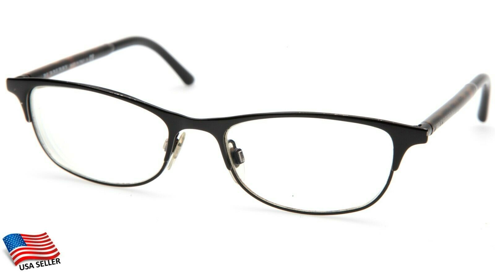 "Primary image for BURBERRY B 1249 1001 BLACK EYEGLASSES FRAME 51-17-135mm B32mm Italy ""READ"""