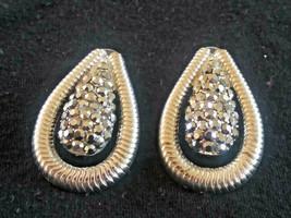 Silver Tone Hematite Earrings - $6.00