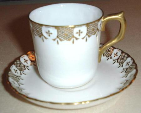 HERALDIC Royal Crown Derby English Demitasse Cup & Saucer