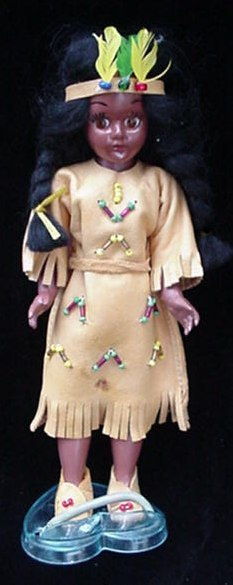Knickerbocker Toy Indian Maiden Doll Open/Close Eyes + Box
