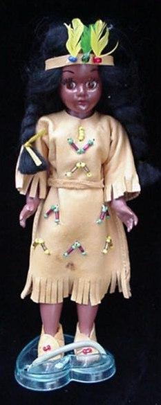 Knickerbocker Toy Indian Maiden Doll Open/Close Eyes + Box