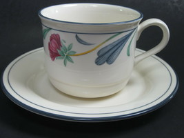 Lenox China Poppies on Blue Cup and Saucer Set Multiples available - $7.11