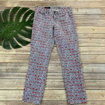 J.Crew Liberty Art Fabric Toothpick Jeans Size 26 Ankle Matilda Tulip Re... - $34.64