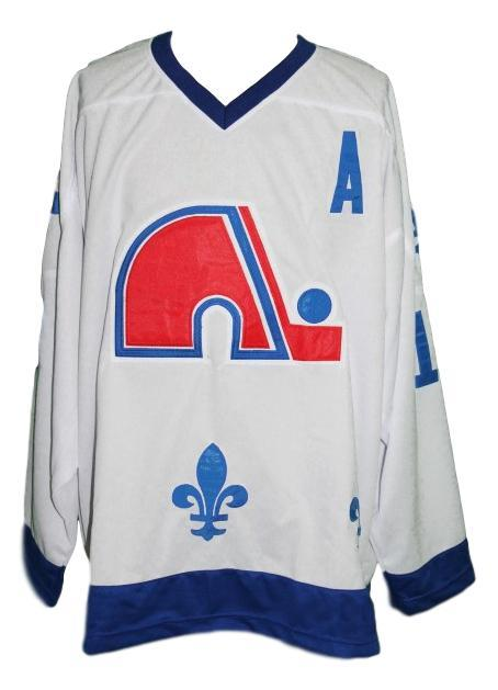 Any Name Number Quebec Retro Hockey Jersey New Sewn White Sakic #19 Any Size