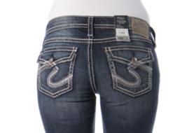 SILVER Jeans Sale Low Rise Pioneer Flap Pocket Denim Stretch Jean Shorts Plus 14 - $39.97