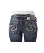 SILVER Jeans Sale Low Rise Pioneer Flap Pocket Denim Stretch Jean Shorts... - $33.33