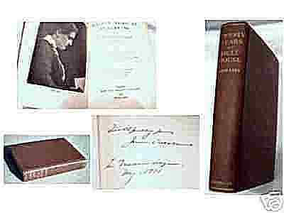 "Signed JANE ADDAMS ""Twenty Years At Hull House "" INSCRIPTION Ed."
