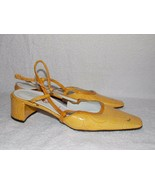 Casadei Yellow Patent Leather HEELS 5 For Women Used - $34.64