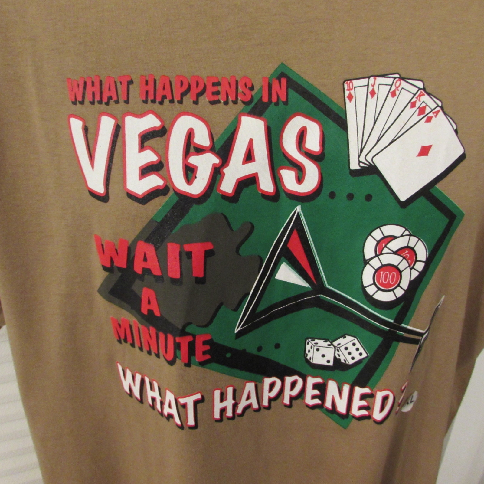 "The Core Apparel Men's Graphic T-Shirt ""What Happens in Vegas"" Size XL"