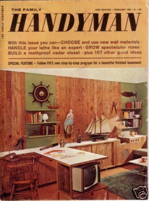 THE FAMILY HANDYMAN *** 1963 Feb Vintage Magazine