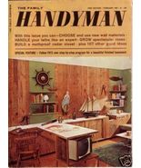 THE FAMILY HANDYMAN *** 1963 Feb Vintage Magazine - $5.00