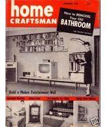 HOME CRAFTSMAN *** 1955 Dec Vintage Magazine - $5.00