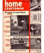 HOME CRAFTSMAN *** 1955 Feb Vintage Magazine - $5.00