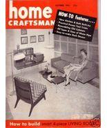 HOME CRAFTSMAN *** 1956 Oct Vintage Magazine - $5.00