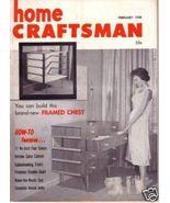 HOME CRAFTSMAN *** 1958 Feb Vintage Magazine - $5.00