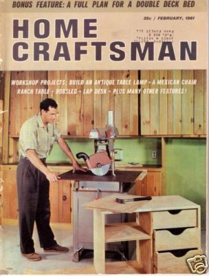HOME CRAFTSMAN *** 1961 Feb Vintage Magazine