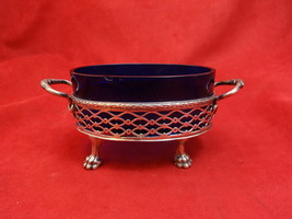 Sterling Silver Dish with Blue Glass Liner - $161.10
