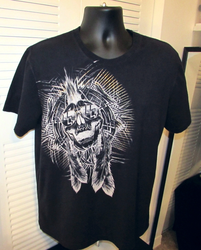 Marc Ecko Pencil Skull Graphic T-Shirt Size: L