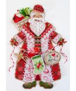 Spirit of Christmas Stitching Santa Ornament Chartpack cross stitch Broo... - $13.50