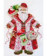 Spirit of Christmas Stitching Santal Ornament Chart only christmas cross... - $9.00