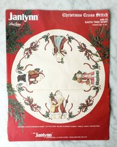 Vintage Janlynn Christmas Cross Stitch Santa Tree Skirt Kit #40-73 - Started - $35.10