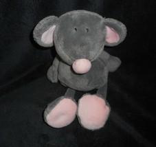 "10"" Ty Pluffies 2005 Pitter / Rocker Pink Grey Mouse Stuffed Animal Plush Toy - $22.21"