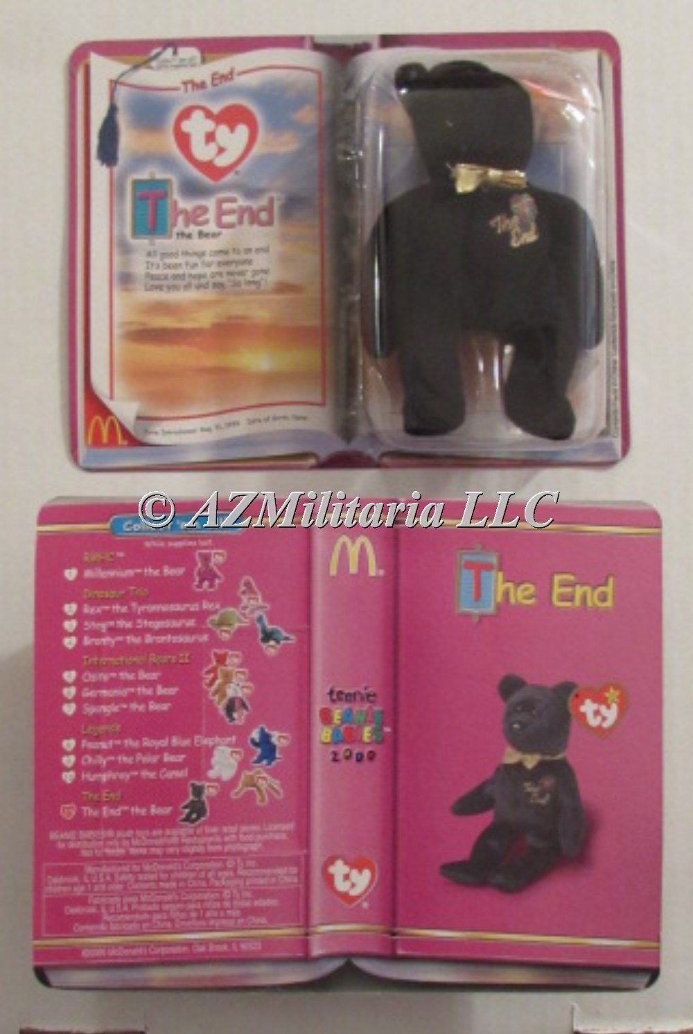 Primary image for TY McDonald's Teenie Beanie - THE END Bear (2000 - Last Day) (5 inch)