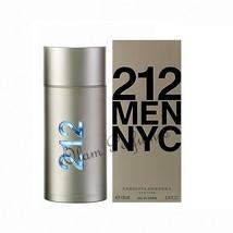 Carolina Herrera 212 For Men Eau de Toilette Spray 3.4oz 100ml * New in Box * - $63.69