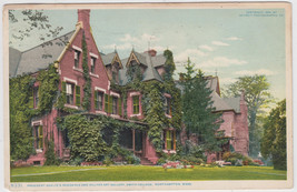 Presidents Residence & College Hall Northampton MA Postcard - $8.95