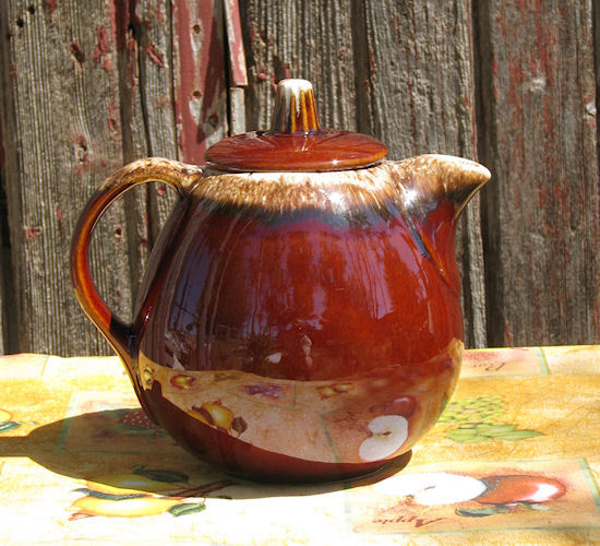 Primary image for Vintage HULL Brown Drip Teapot with Lid USA Oven Proof