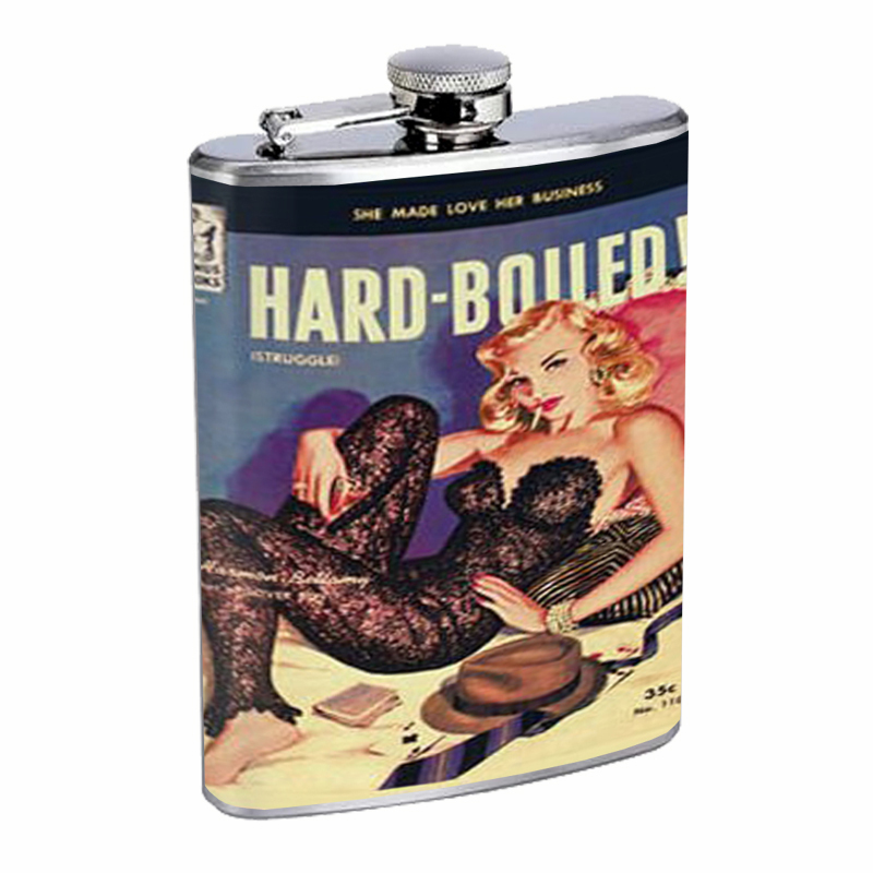 Primary image for Hard Boiled Sexy Pulp Body Stocking Flask 8oz Stainless Steel D-049