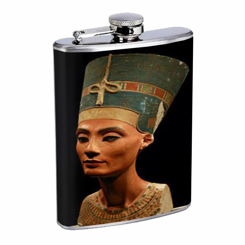 Primary image for Queen Nefertiti Egyptian Flask 8oz Stainless Steel D-115