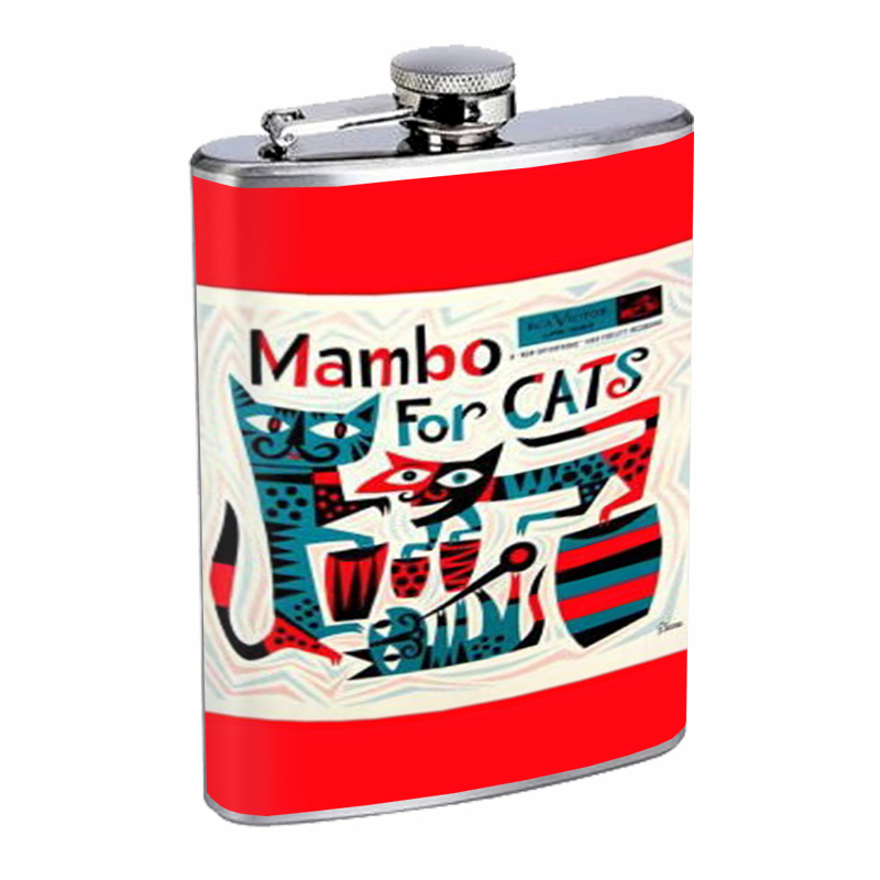 Primary image for Mambo For Cats Retro Lounge Flask 8oz Stainless Steel D-438