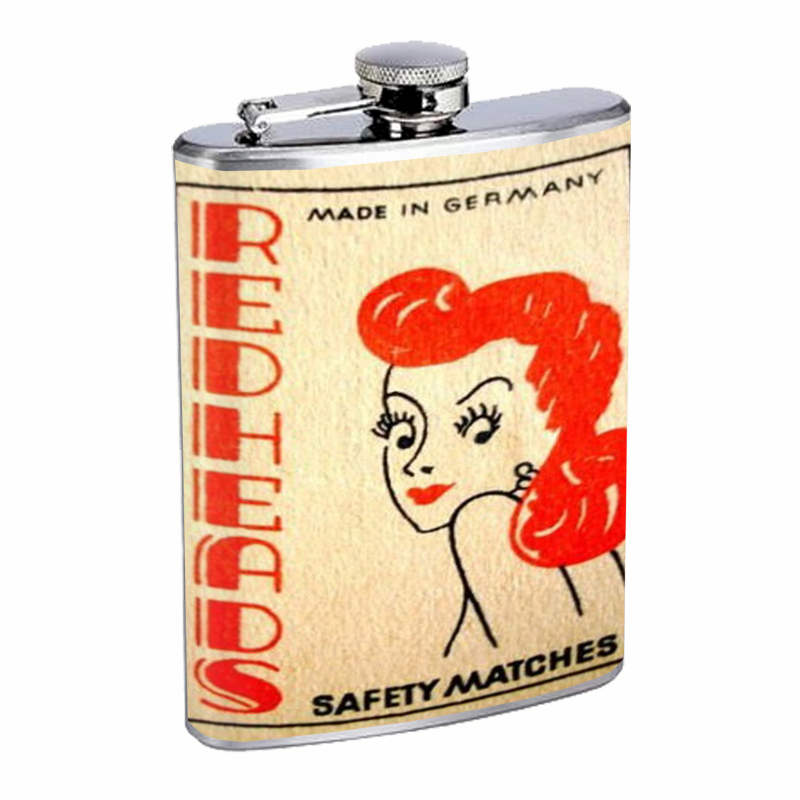 Primary image for Redhead Germany Match Retro Flask 8oz Stainless Steel D-542